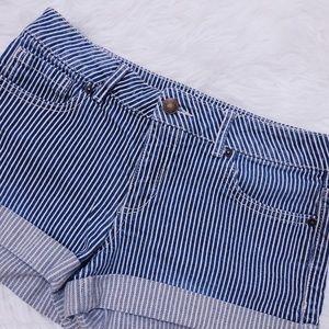 FOREVER 21 Striped Premium Denim Shorts Size 27